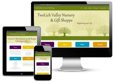 TwoLick Valley Nursery Website Design