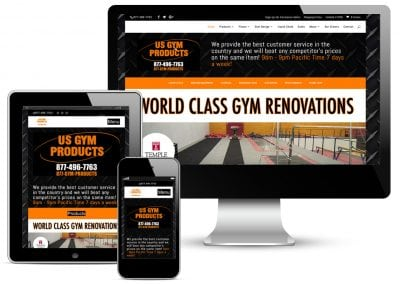 US Gym Products Website