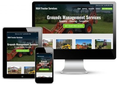 R&H Tractor Services Web Design
