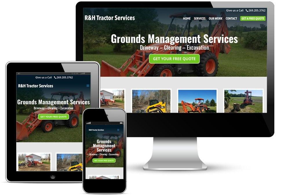 R&H Tractor Services Web Design