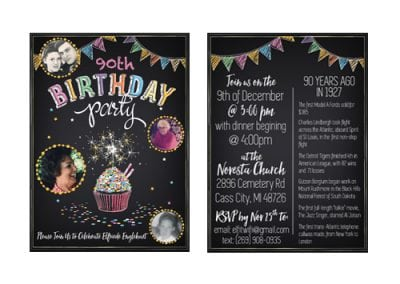 Custom Birthday Party Invites