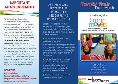 Tumbl Trak Tri-Fold Brochure