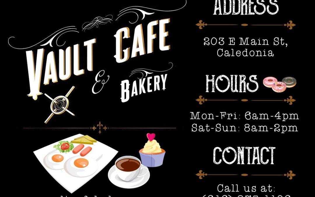 Vault Cafe Bakery Ad
