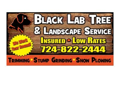 Black Lab Tree & Landscaping Billboard Design