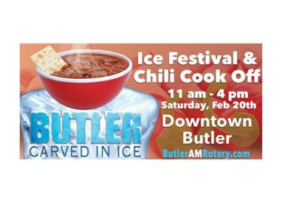 Butler Carved in Ice Billboard Design