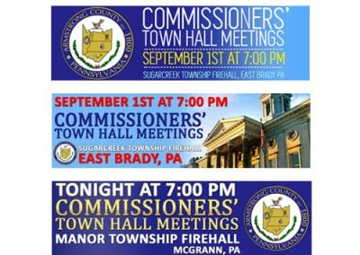 Town Hall Meeting Billboard Design