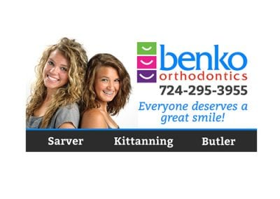 Benko Orthodontics Billboard Design