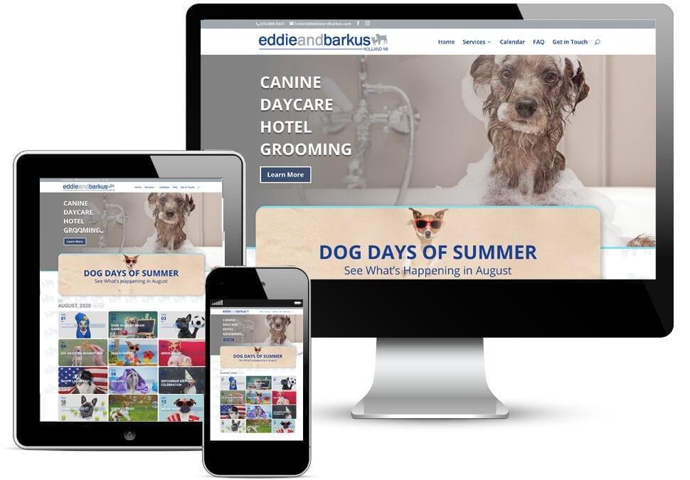 Eddie and Barkus Holland Website